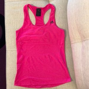 Adidas Hot pink running tank in Size Small